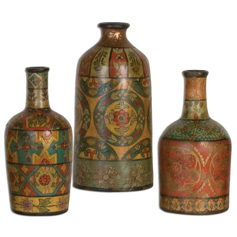 Sachi Hand-painted Terracotta Vases