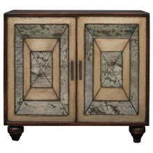 Caroline Antique Mirrored Accent Cabinet